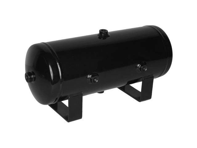 Two Gallon Six Port Black Enameled Steel Air Lift Air Tank